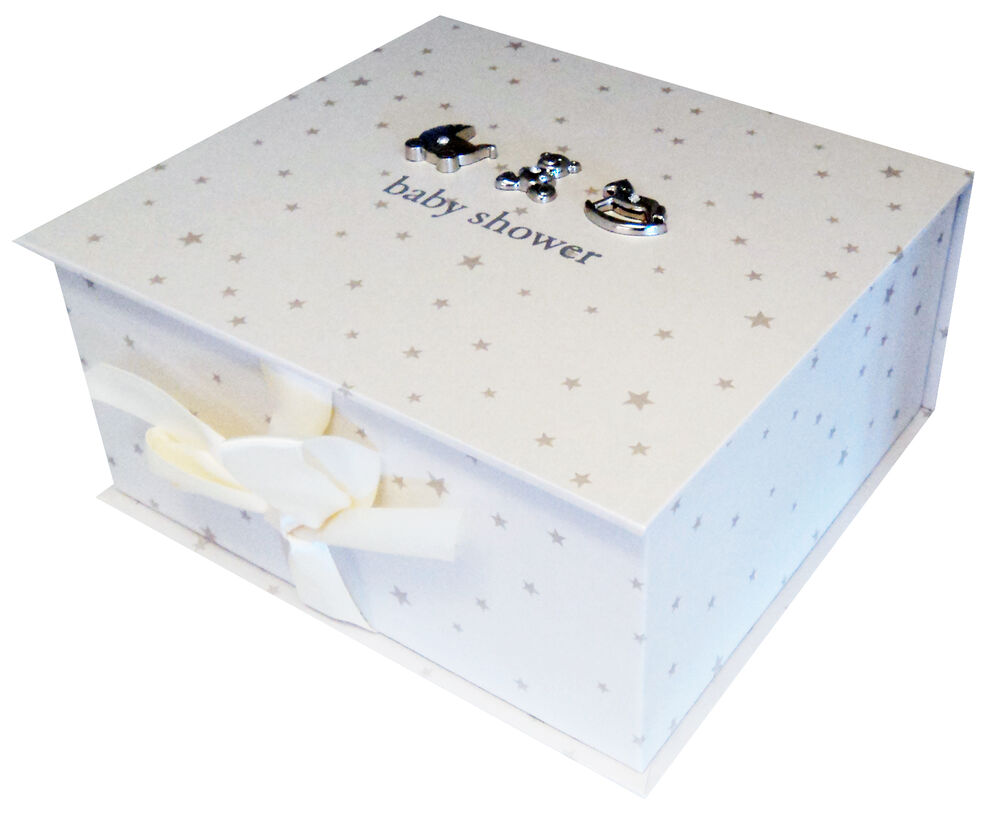Baby Gift Keepsake Box : New premium quality baby shower keepsake box unisex memory
