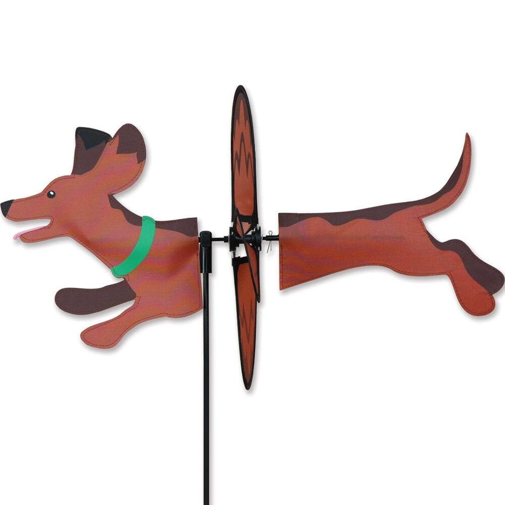 Dachshund garden wind spinners ebay for Garden spinners premier designs