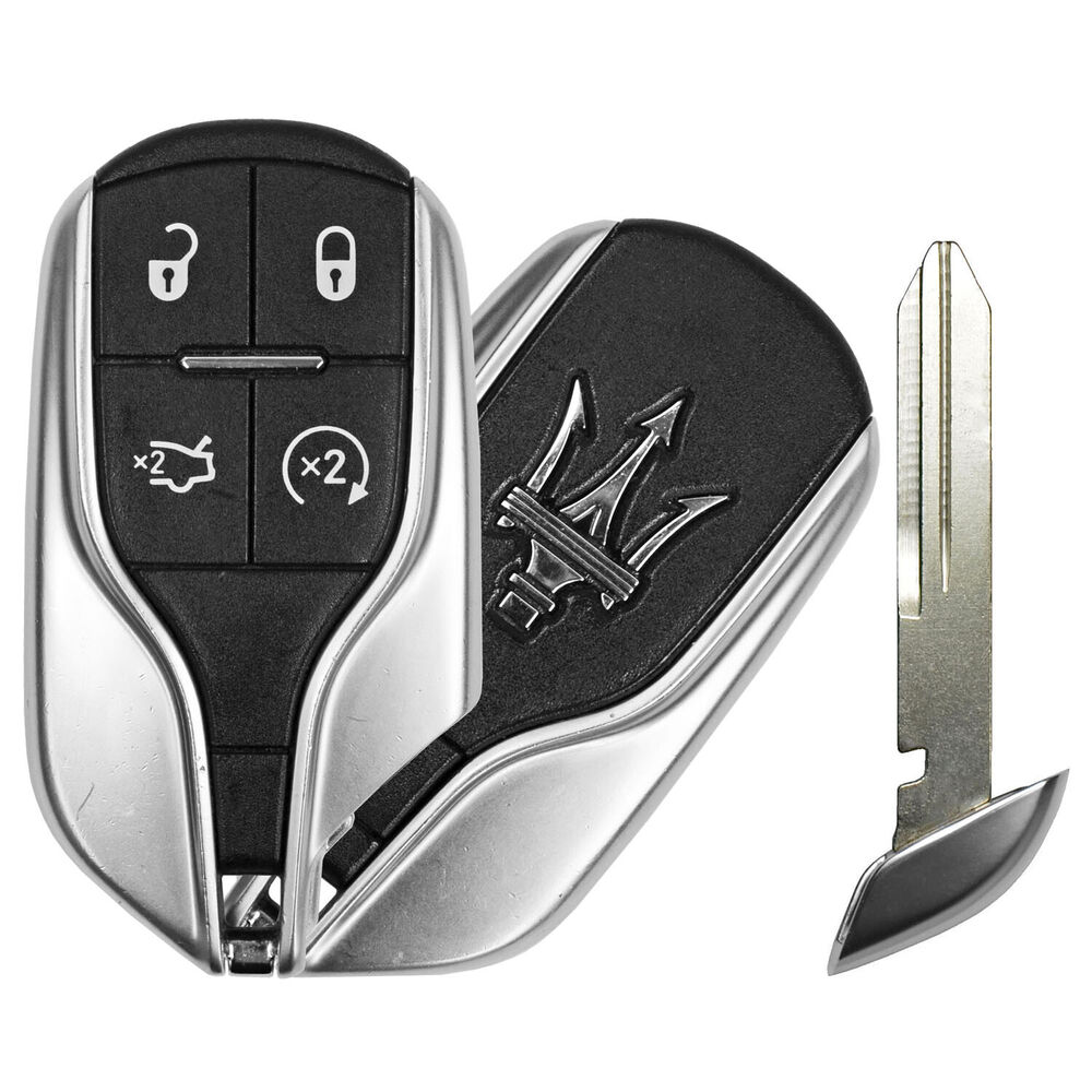 Virgin OEM Factory Maserati Remote Start Smart Prox Key Keyless With Uncut Blade | eBay