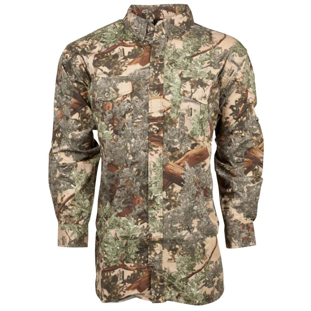 King 39 S Camo Button Up Classic Long Sleeve Shirt Desert