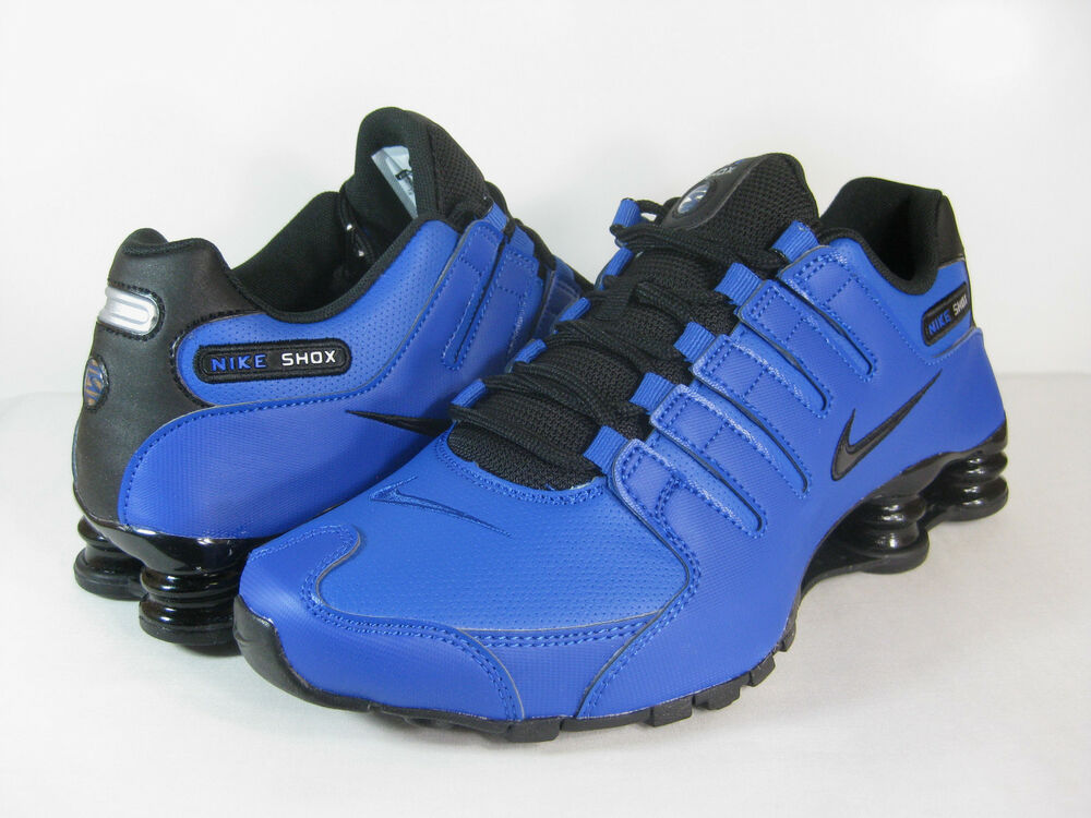 ... trainers sneakers 317547 762e6 authentic nike mens shox nz hyper cobalt  black mtllc silver 378341 400 running athletic ebay 5fe53 ... c6ecd6e0c669