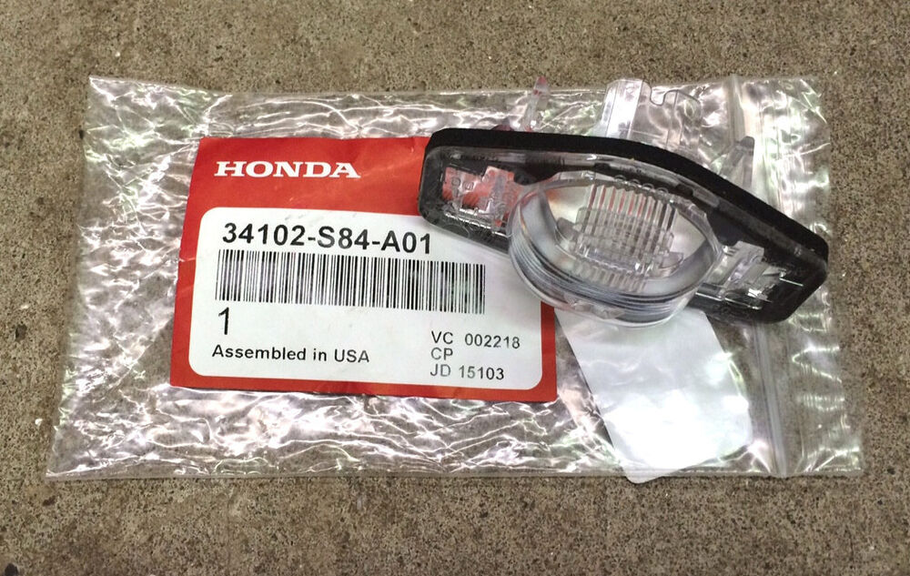 Genuine Oem Honda License Plate Light Lens Ebay
