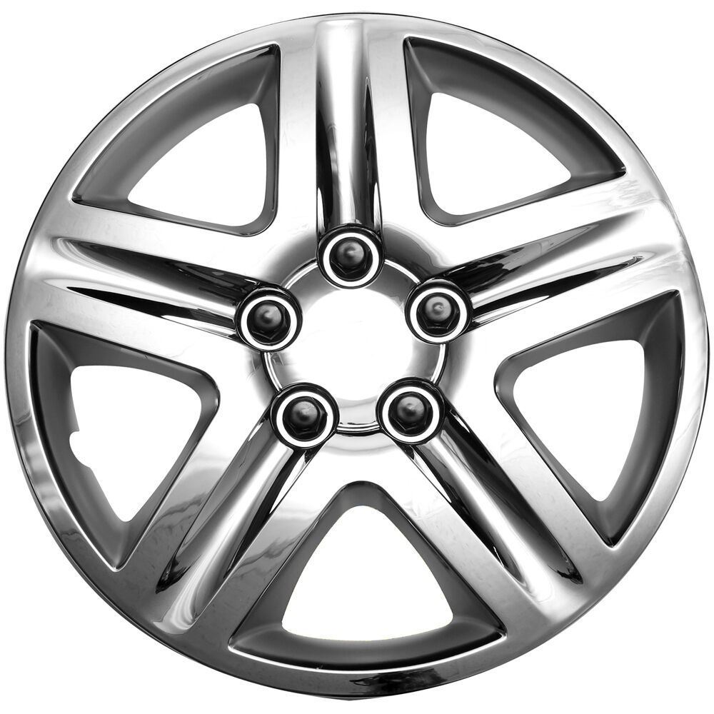 Craftsman Chrome Wheel Covers : Pc chevy impala steel wheel snap on chrome quot hub caps