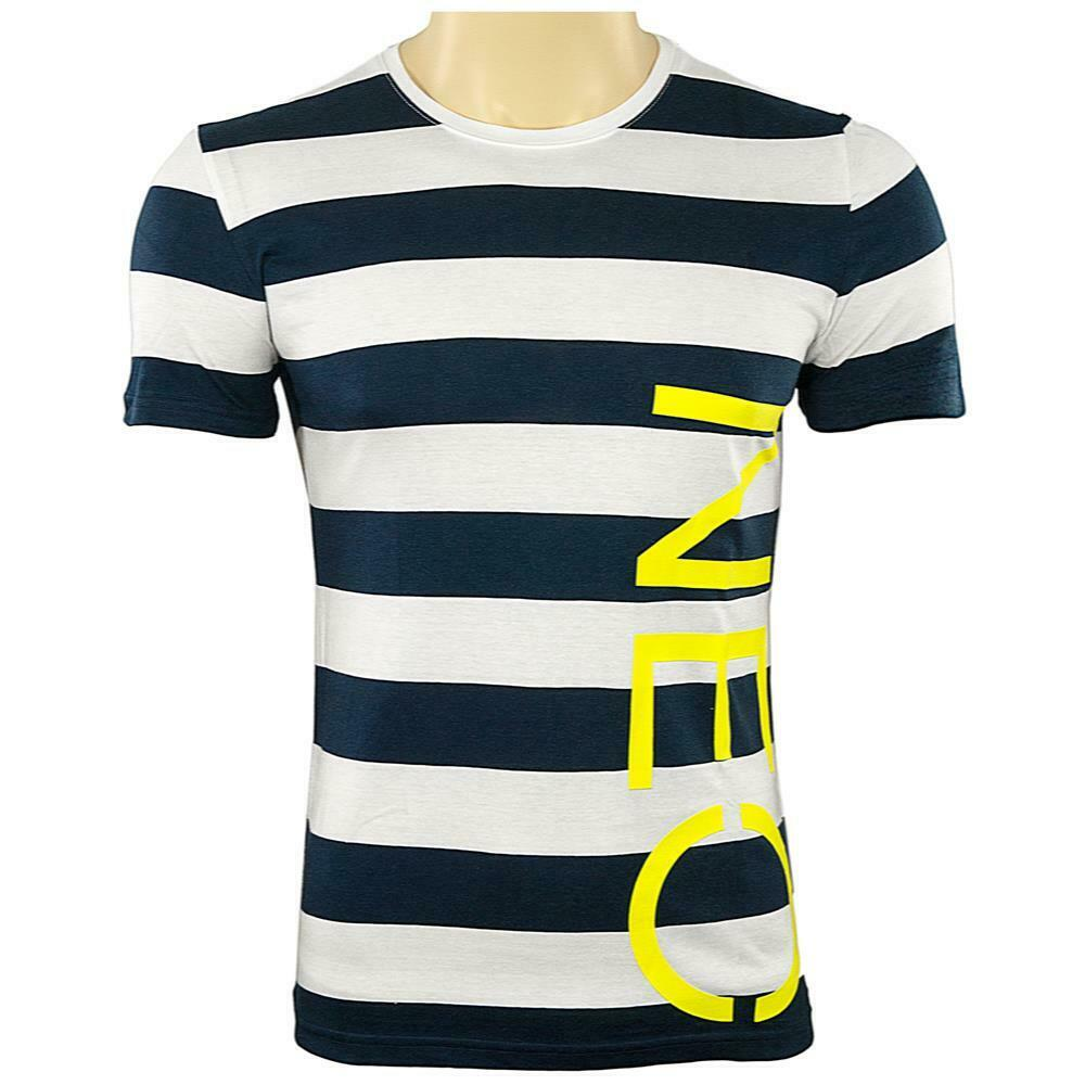 adidas neo striped herren t shirt dunkblau wei gestreift. Black Bedroom Furniture Sets. Home Design Ideas