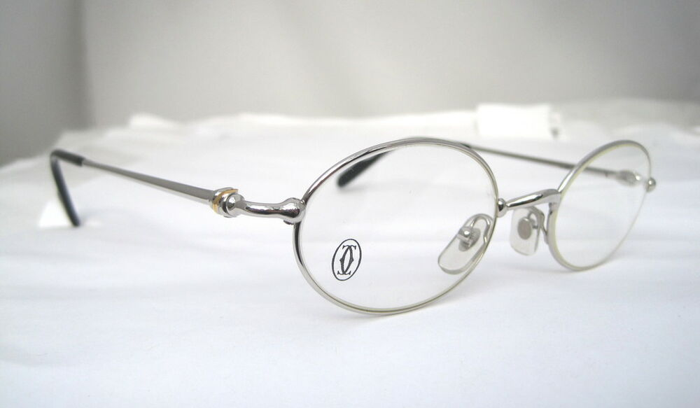 Cartier Eyeglasses Frames Mens : Cartier Eyeglasses Glasses Platinum T8100369 Authentic eBay
