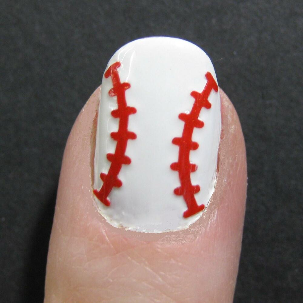 Baseball Softball Finger or Toe Nail Decal Tattoo Art Sticker ...