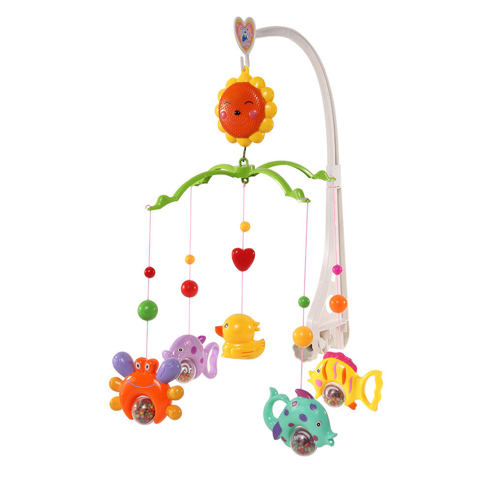 Crib music box for babies - Baby Crib Mobile Bed Bell Holder Kid Toy Bracket Wind Up Auto Music Box Nursery Ebay