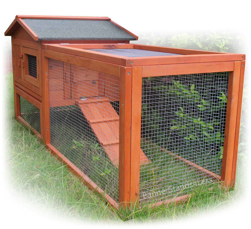 Wooden Chicken Coop Hen House Rabbit Hutch Poultry Wood