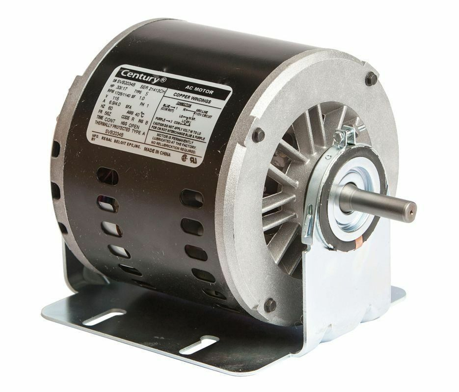 Evaporative cooler motor 1 3 hp 1725 rpm 2 speed 56z frame for 1 3 hp motor