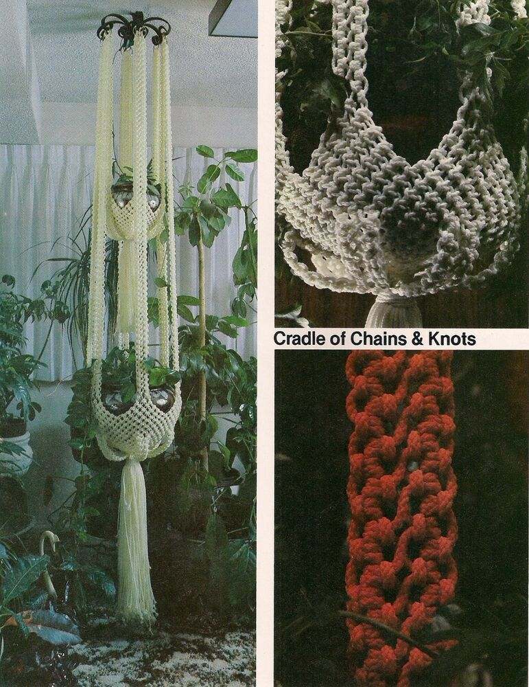 macrame plant hanger pattern books chain look plant hanger pattern craft book mp6 5908