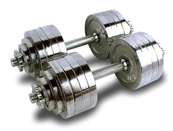 Something chrome dumbbell set matchless