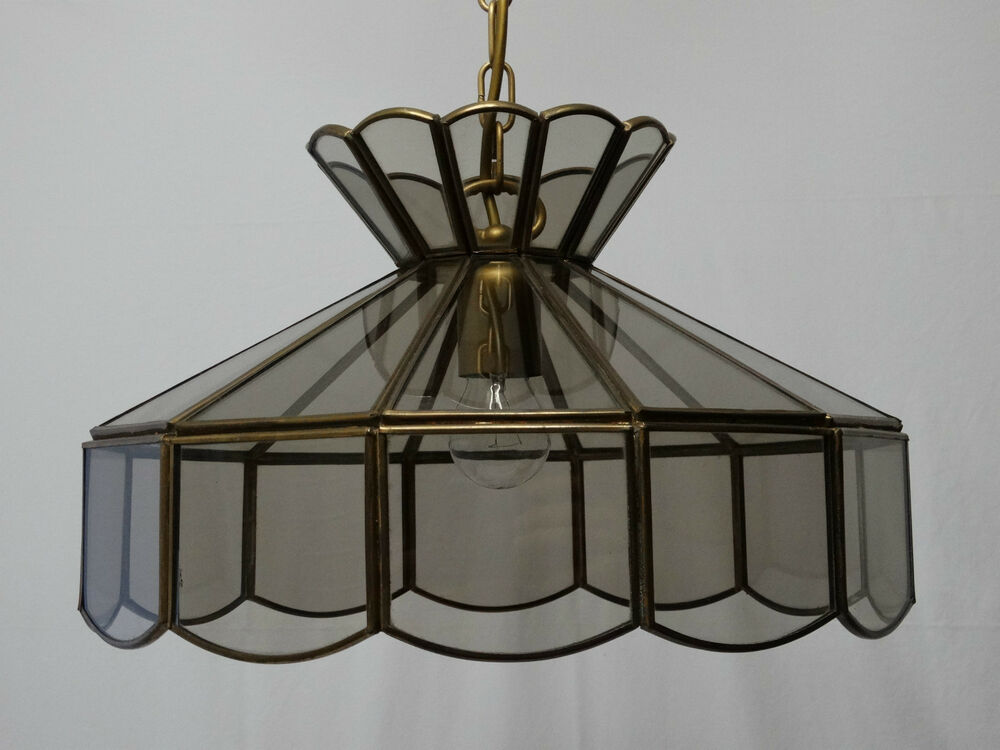 massive glas deckenlampe messing deckenleuchte tiffany stil lampe leuchte lampen ebay. Black Bedroom Furniture Sets. Home Design Ideas