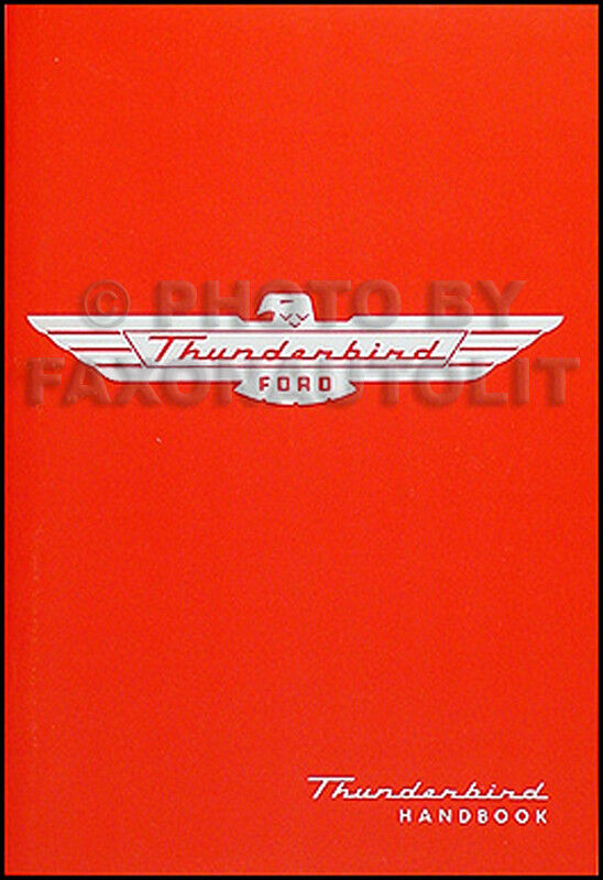 ford thunderbird owners manual   bird tbird owner