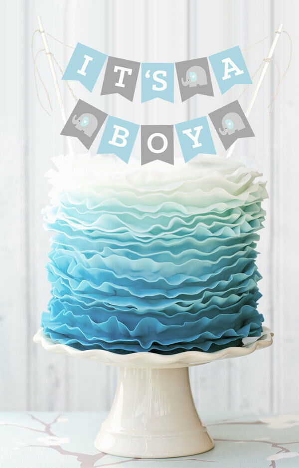 Greeting On Baby Shower Cake