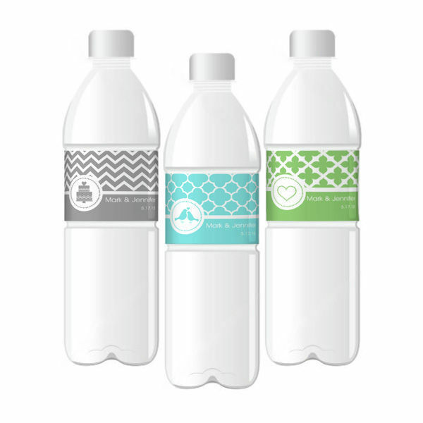 Personalized Mod Pattern Wedding Water Bottle Labels Wedding Favors EBay