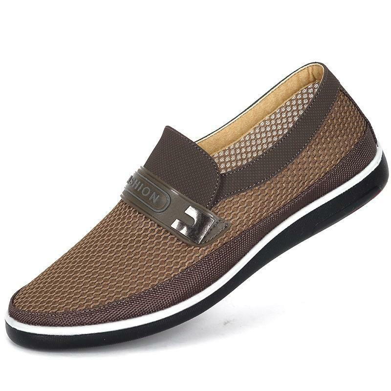 new mens slip on loafer mesh breathable sport sandal