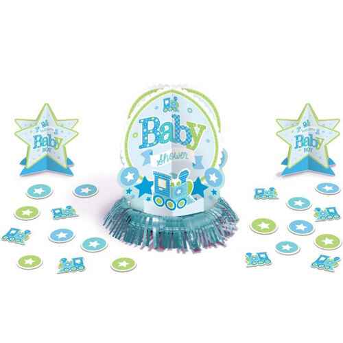 Baby shower welcome little one boy table decorating kit for Baby shower decoration kit