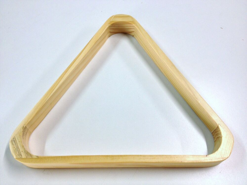 WOODEN TIMBER Pool Snooker Billiard Table Triangle for 10 ...
