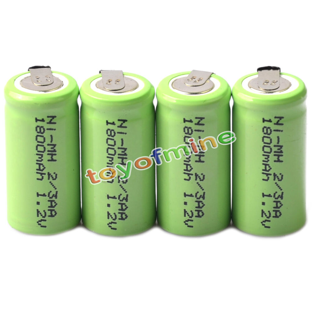 4x ni mh 1 2v 2 3aa 1800mah rechargeable battery ni mh batteries for phone toy ebay. Black Bedroom Furniture Sets. Home Design Ideas