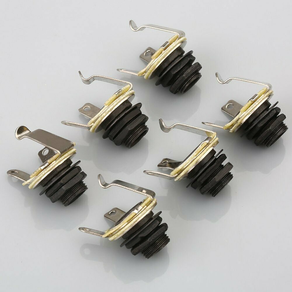 6pcs electric guitar socket switchcraft 1 4 input output jack replacement parts ebay. Black Bedroom Furniture Sets. Home Design Ideas