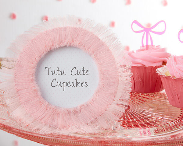 tutu cute pink tulle round photo frames baby shower favor ebay