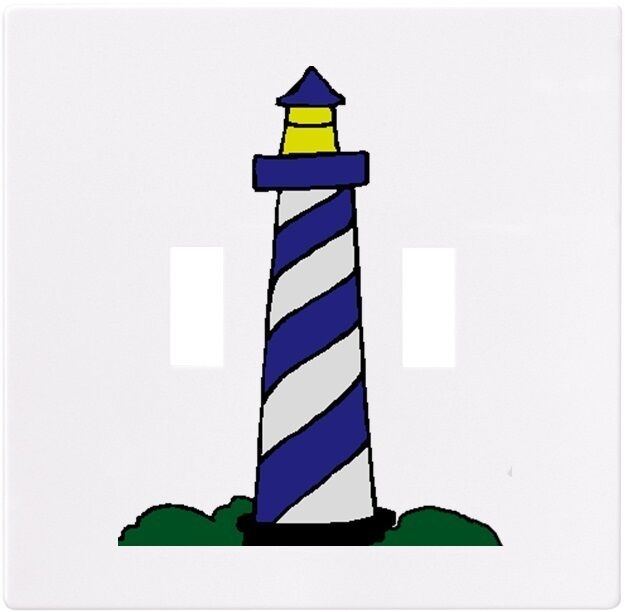 Blue lighthouse wallplate wall plate decorative light for Lighthouse switch plates
