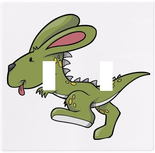 Dino Rabbit Dinosaur Wall Plate Decorative Light Switch