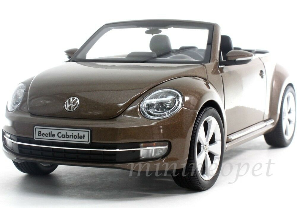 kyosho tbr vw volkswagen  beetle convertible  toffee brown metallic ebay