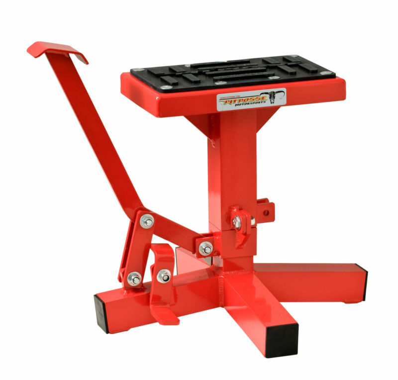Motorcycle Dirt Bike Mx Offroad Lift Stand Crf Kx Kxf Red