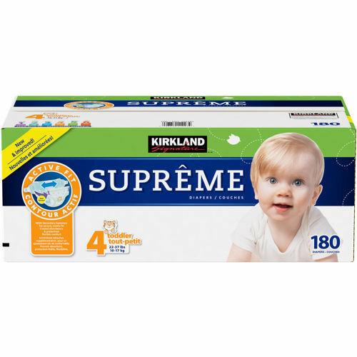 kirkland signature supreme diapers size 4 180 ct sealed ebay. Black Bedroom Furniture Sets. Home Design Ideas