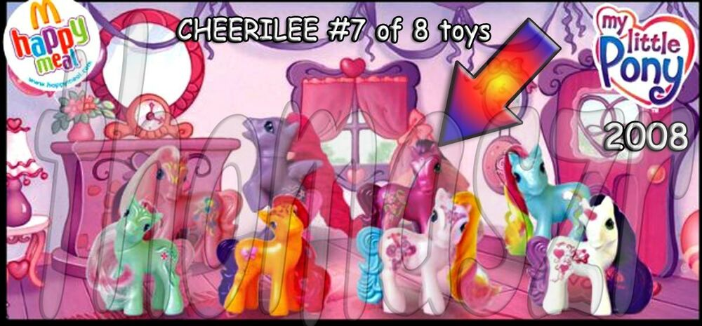 My Little Pony Toy Food : Cheerilee pony toy my little mcdonald s