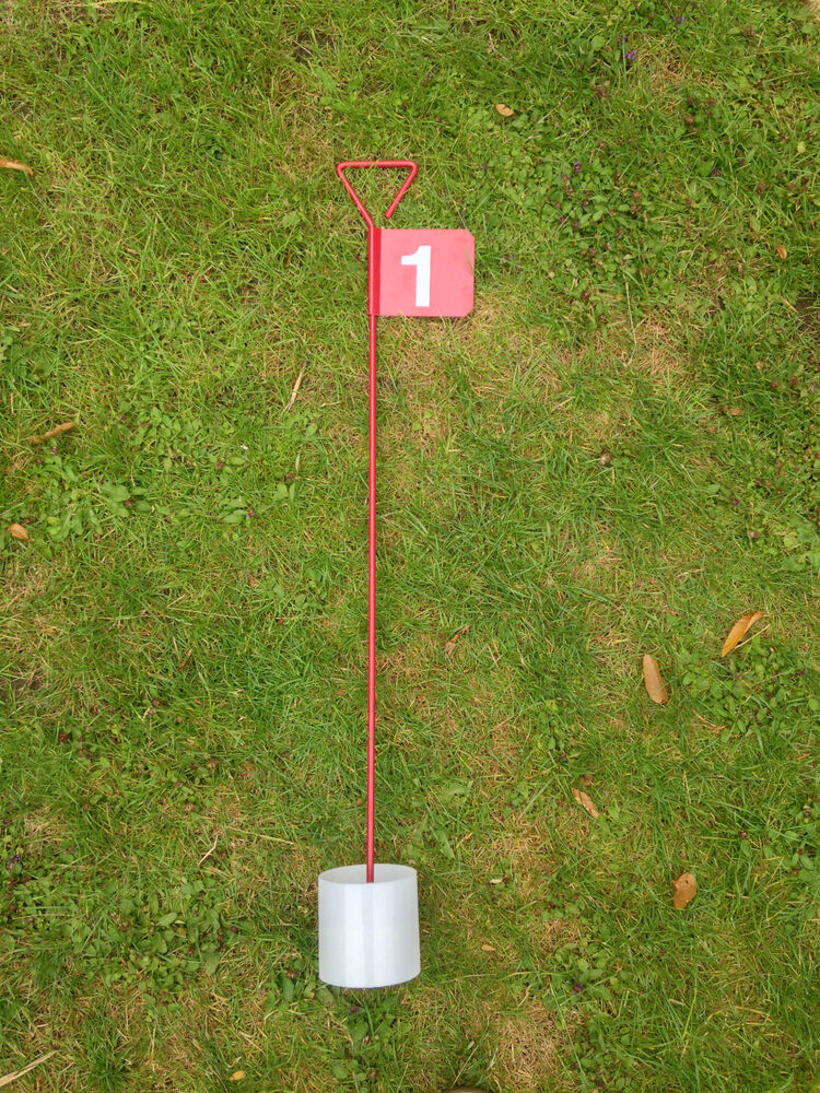 Numbered Metal Professional Jl Golf Putting Green Flag And