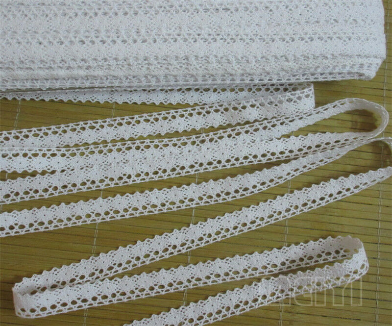 5 Yards Vintage Cotton Crochet Lace Edge Trim Ribbon