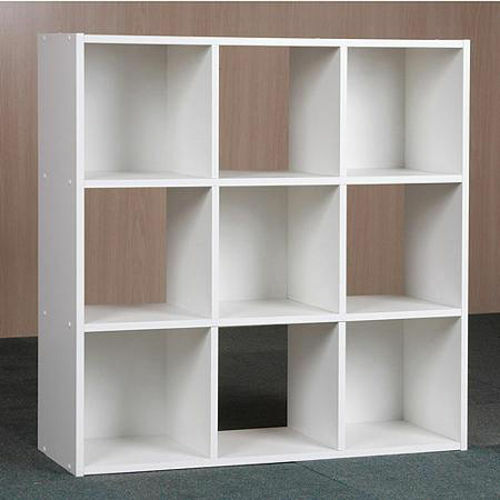 9 Cube Organizer Bookcase Storage Tower Shelves White Kids Or Living Room Ebay