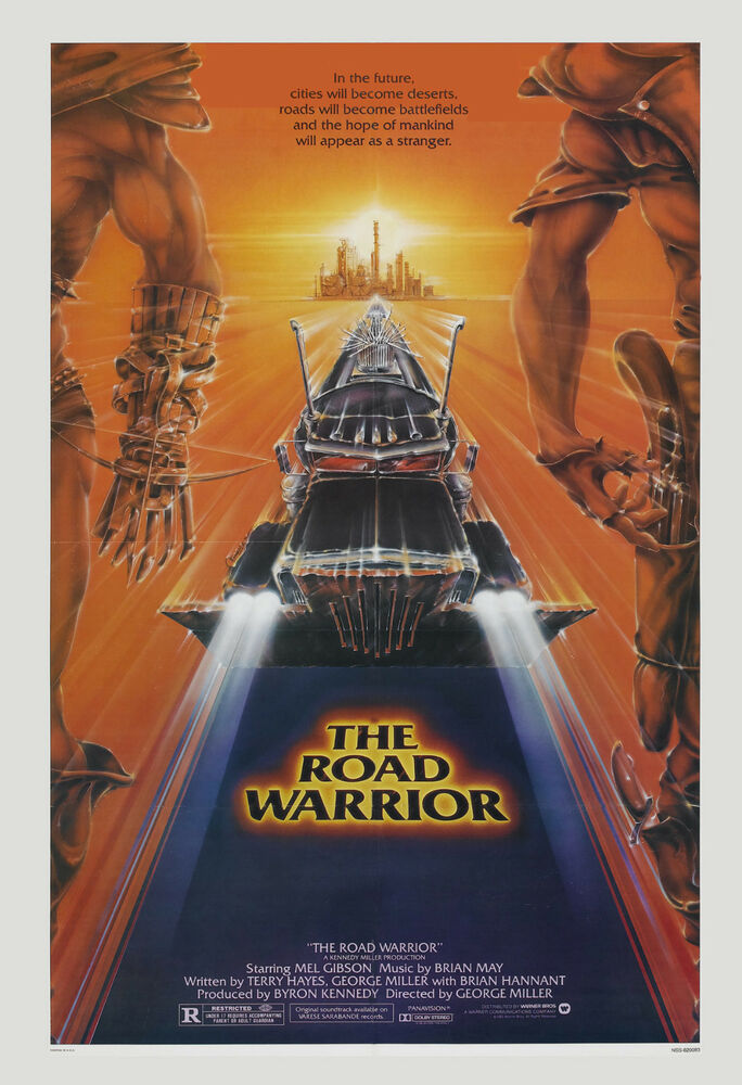 1980 s sci fi mad max 2 road warrior mel gibson movie poster 1981