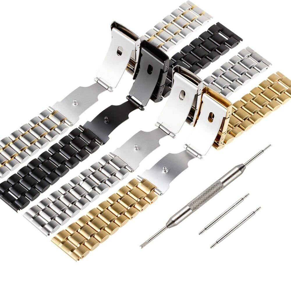 22mm Stainless Steel Watch Band Strap LG G Watch R Pebble ...
