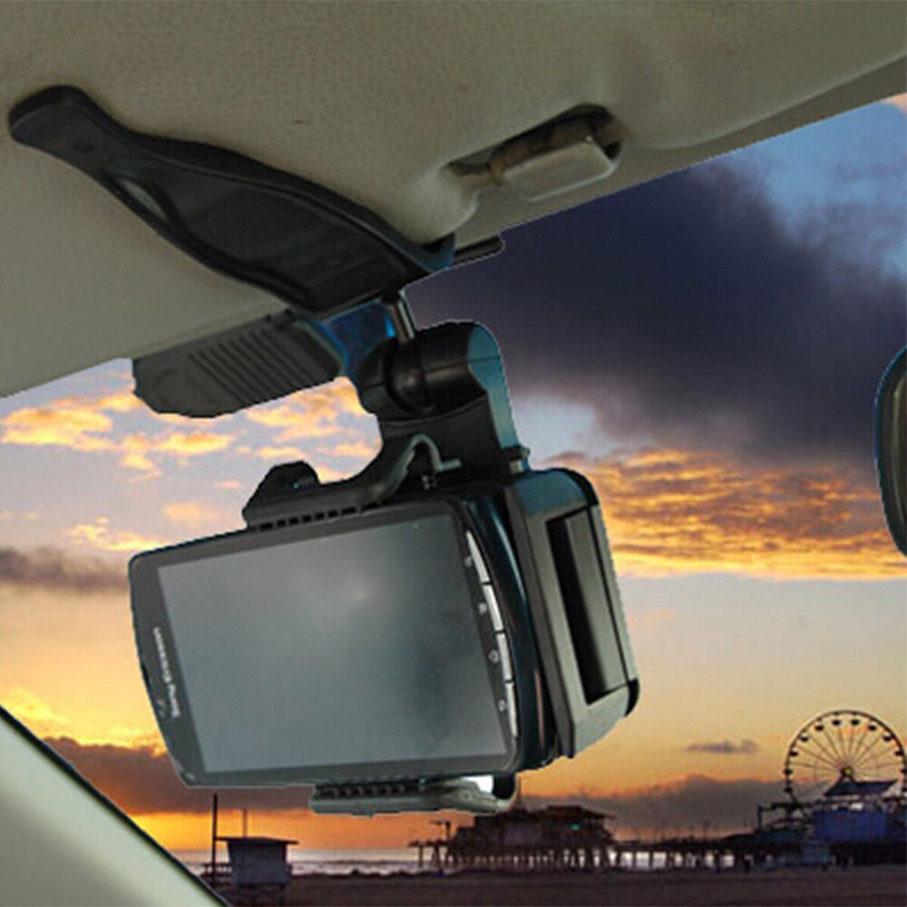 Universal 360 Rotating Car Visor Clip Mount Holder Bracket