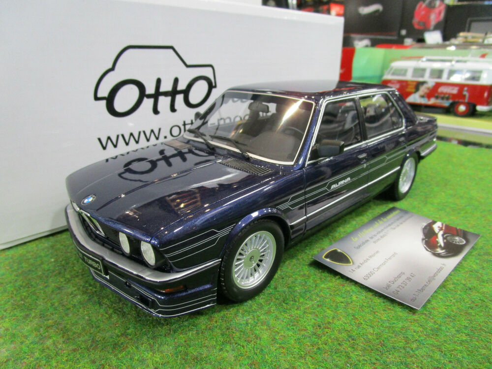 bmw alpina b7 e28 bleu au 1 18 ottomobile ot633 voiture miniature de collection ebay. Black Bedroom Furniture Sets. Home Design Ideas