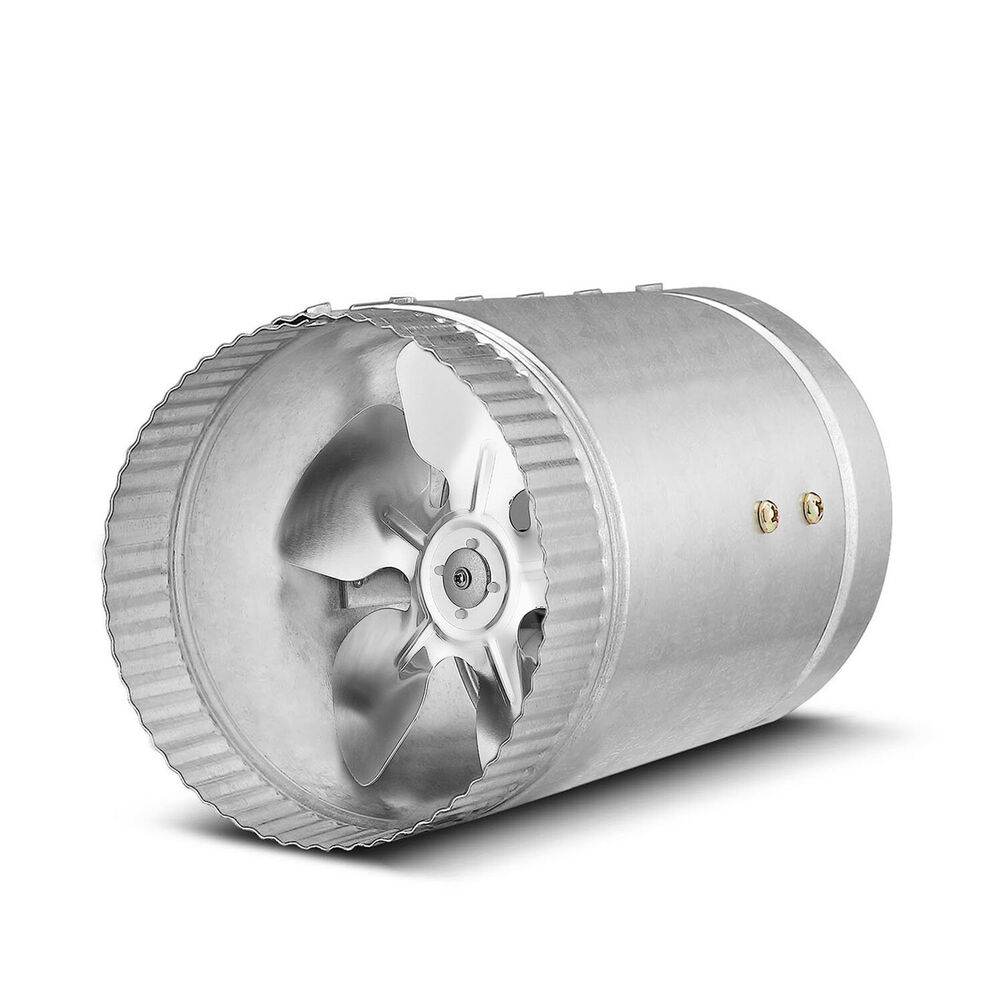 Air Duct Blower Fan : Quot inline duct fan cfm booster exhaust blower aluminum