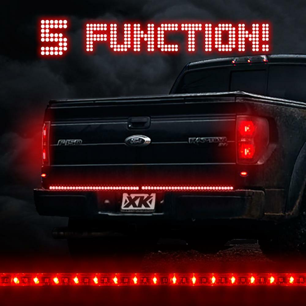 Red Truck Lamp : Quot red white led tailgate light bar functions rear tail