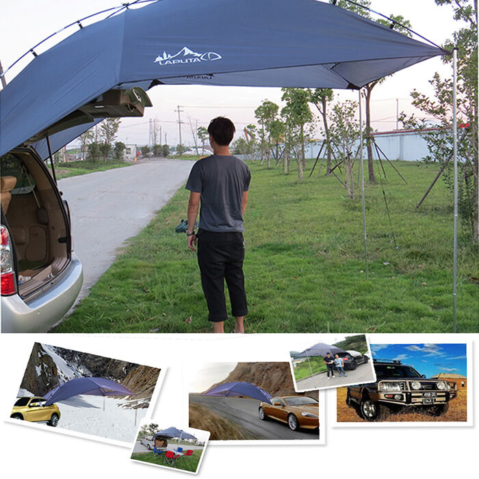Back Car Tent Awning Roof Top 2 In 1 Camping Travel Tent