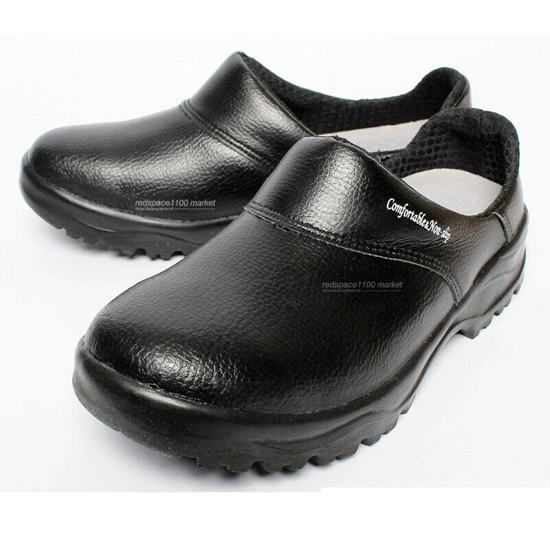 Black Leather Chef Shoes