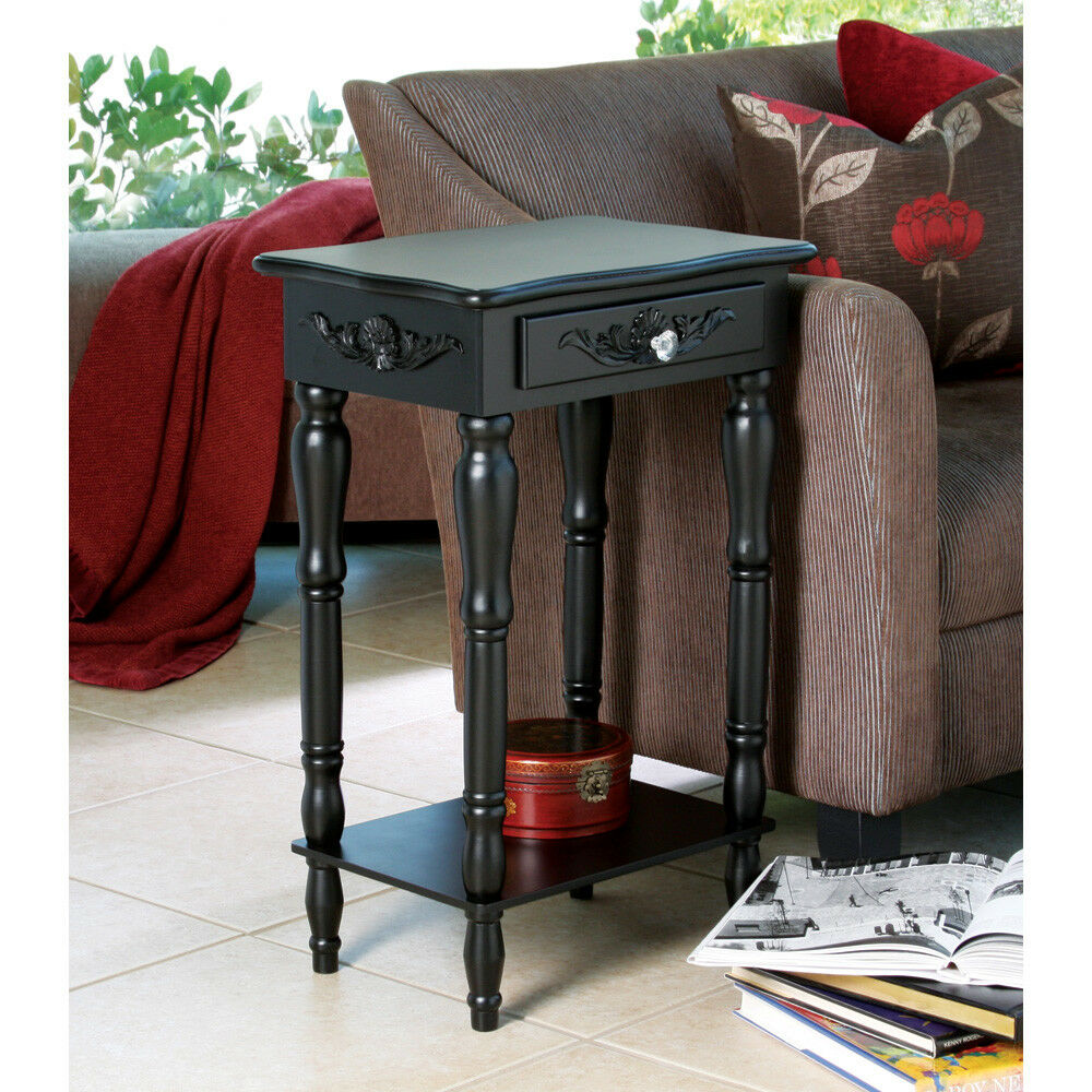 decorating end tables living room colonial carved side end table nightstand black 21553
