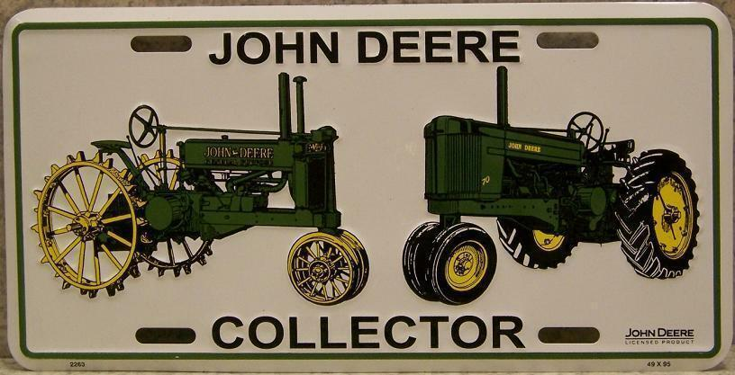 Collectors Vintage John Deere Tractors : Aluminum john deere collector antique tractors license