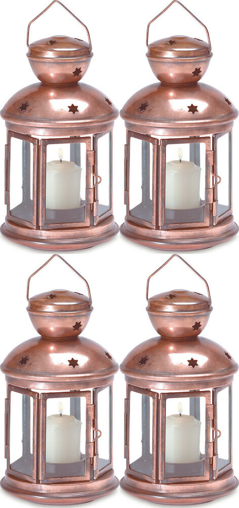 Wholesale lot copper garden lantern candle holder