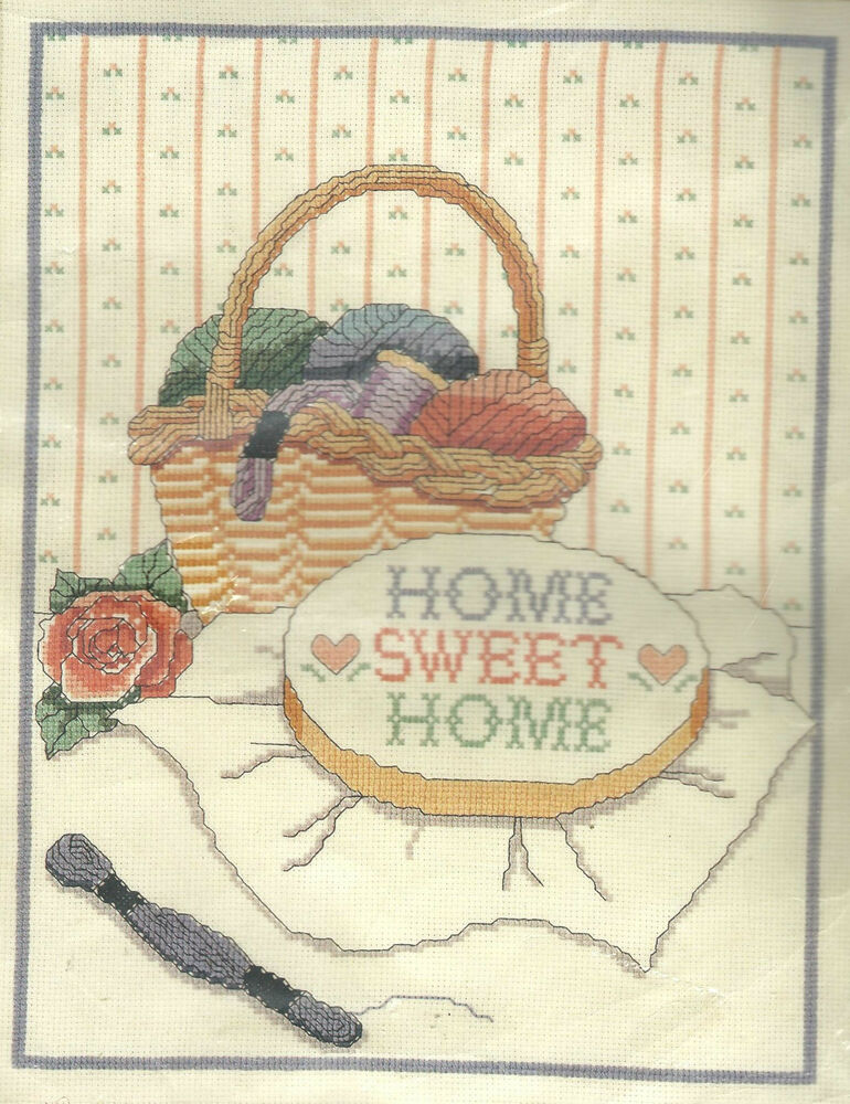 Home sweet home counted cross stitch embroidery kit by banar designs sealed ebay - Home sweet home designs ...