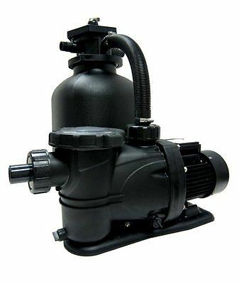 Smart clear 19 tank with 1 5 hp above ground swimming pool sand filter system ebay for Swimming pool sand filter parts