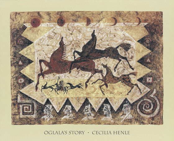 Ogalalas Story Art Print by Cecilia Henle -Native American ...