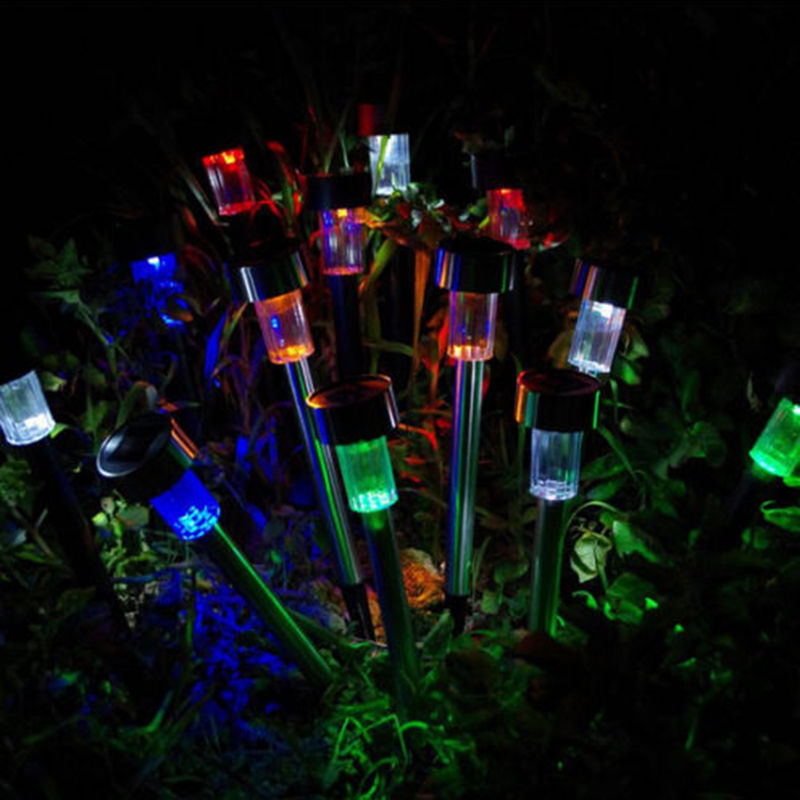 1xcolorful solar led path ligh outdoor lawn landscape decor lamp night light ebay - Night yard landscaping with outdoor lights ...