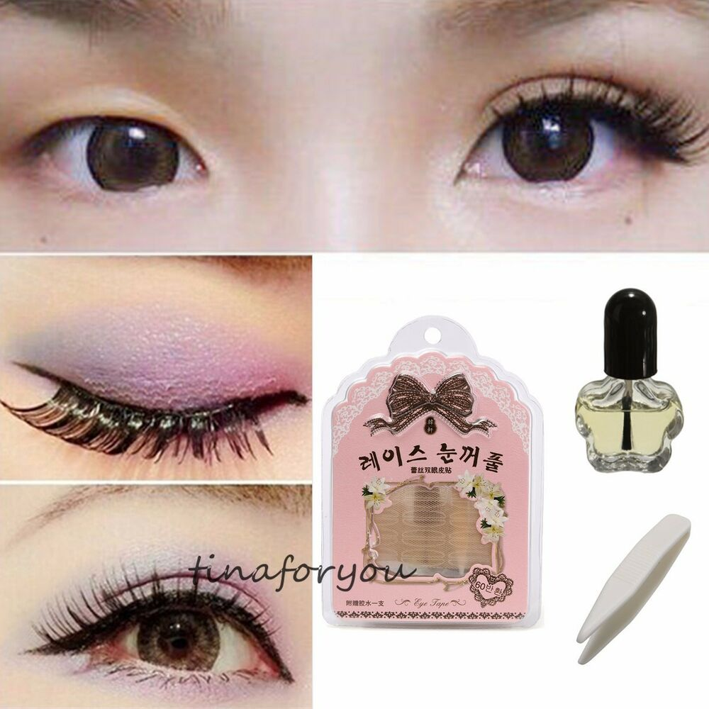 Mesh Type Double Eyelid Tape With Quick Dry Glue 60sets